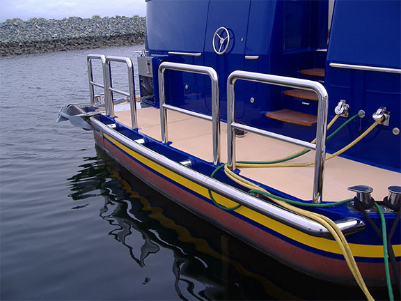 Boat railing fabrication and welding
